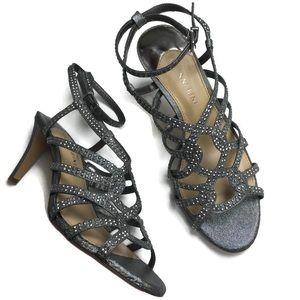 Gianni Bini Lexe Studded Ankle Strap Heels Size 7